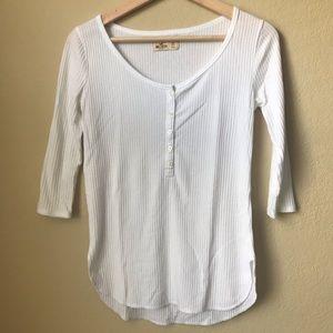 3 for $15: 3/4 sleeve white henley shirt